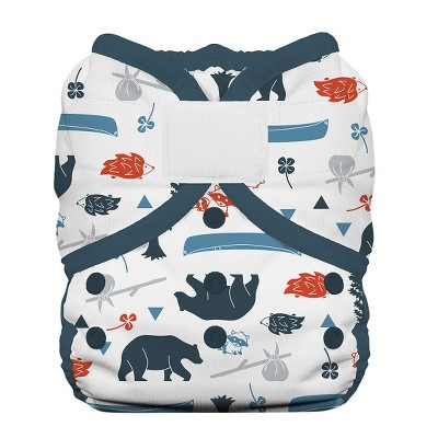 Thirsties Duo Wrap Hook & Loop Diaper, Size Two - Adventure Trail