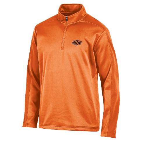 NCAA Men's Victory Call Long Sleeve 1/4 Zip Poly Impact Fleece Shirt Oklahoma State Cowboys - M - image 1 of 1