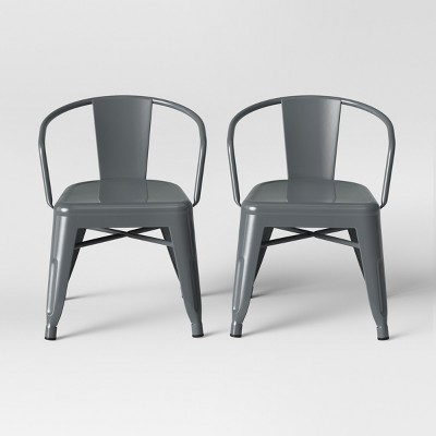 Set of 2 Kids Industrial Activity Chair Gray - Pillowfort™
