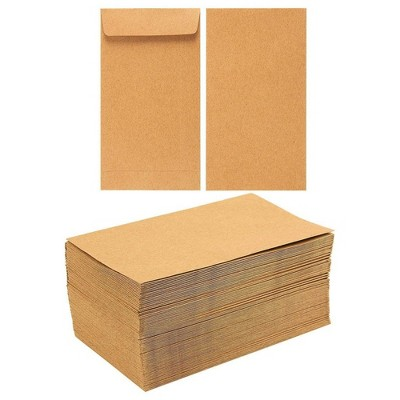 100-Pack Of Coin Envelopes - Small Kraft Money Envelopes, for Currency Exchange, Business Use, Personal Gift-Giving, Brown - 3.5 X 6.5 inches