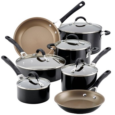 Circulon Innovatum 12pc Aluminum Nonstick Cookware Set Black