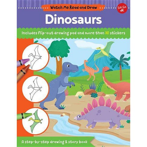 Watch Me Read And Draw Dinosaurs By Samantha Chagollan Mattia Cerato Paperback
