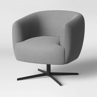 Morpho Swivel Arm Chair Boucle/Black - Opalhouse™
