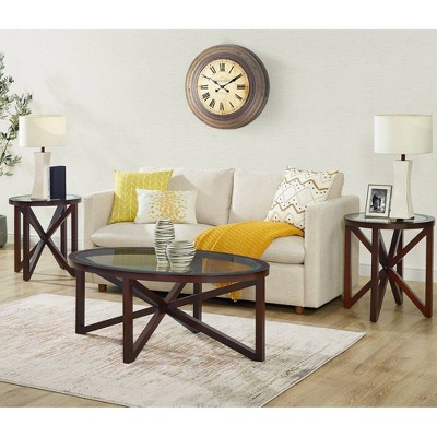 3pc Trinity Occasional Table Set Espresso - Picket House Furnishings