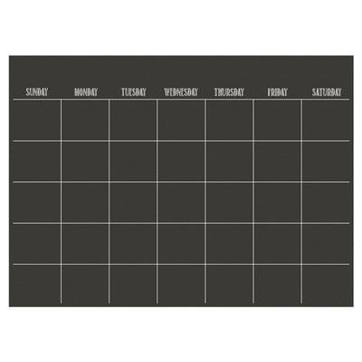 "Wall Pops!  Dry Erase Board Calendar 17.5"" x 24"" - Charcoal Chalk Board"