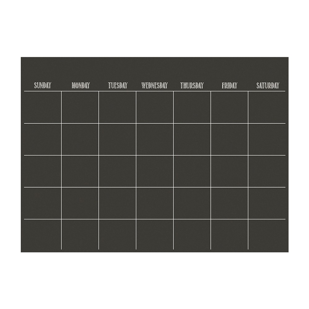 "Image of ""Wall Pops! Dry Erase Board Calendar 17.5"""" x 24"""" - Charcoal Chalk Board"""