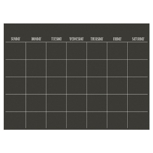 "Wall Pops!  Dry Erase Board Calendar 17.5"" x 24"" - Charcoal Chalk Board - image 1 of 3"
