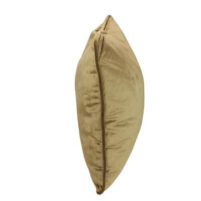 "Northlight 17"" Square Plush Velvet Indoor Throw Pillow - Umber Brown : Target"