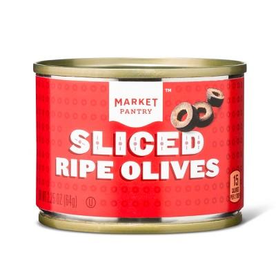 Sliced Ripe Black Olives 2.25oz - Market Pantry™
