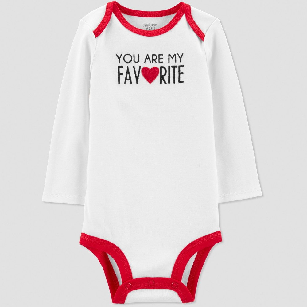 Baby You Are My Favorite Bodysuit - Just One You made by carter's Ivory 12M, Infant Unisex, White