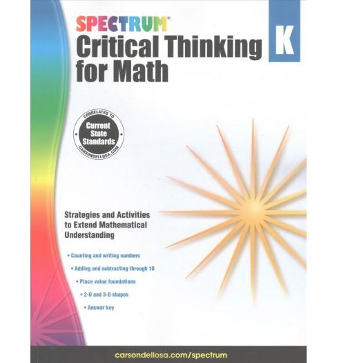 Spectrum Critical Thinking for Math, Grade K (Paperback) - image 1 of 1