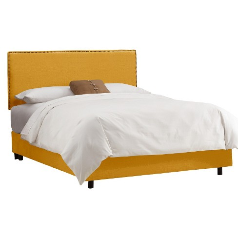 Arcadia Nailbutton Linen Bed Skyline Furniture Target