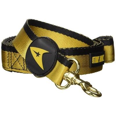Crowded Coop, LLC Star Trek Starfleet Gold Uniform 6ft. Dog Leash