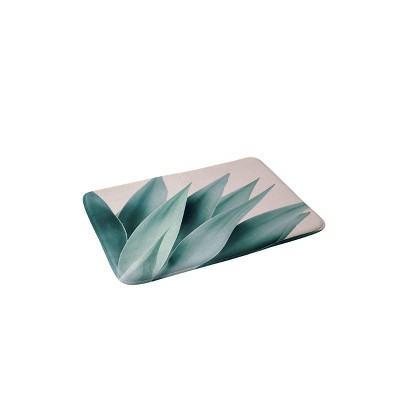 Gale Switzer Agave Flare Bath Mat Green - Deny Designs