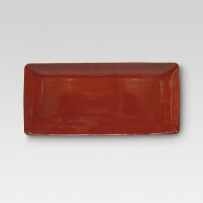 Elemental Poppy Stoneware Serving Platter (Medium)- Threshold™