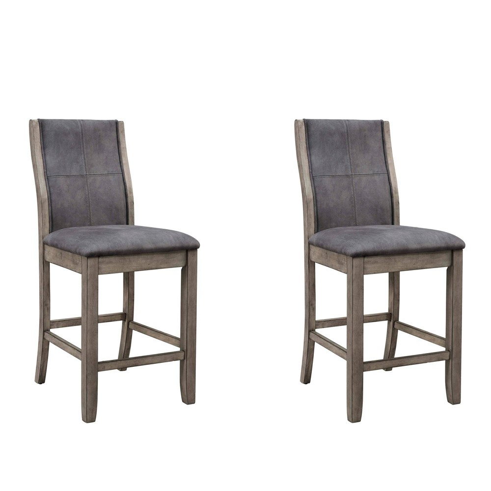 Dylan Round Counter Side Chair Gray Wash - Picket House Furnishings