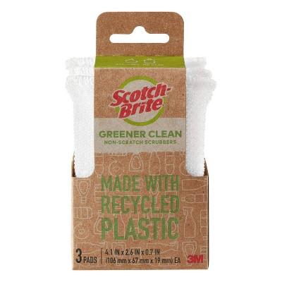 Scotch-Brite Dobie Greener Clean Non-Scratch Scrubber - 3ct