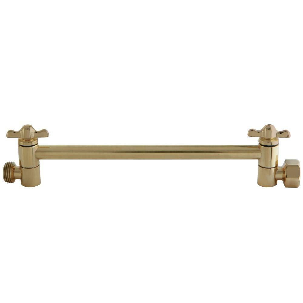 "Image of ""Adjustable 10"""" High-Low Shower Arm Polish Brass - Kingston Brass"""