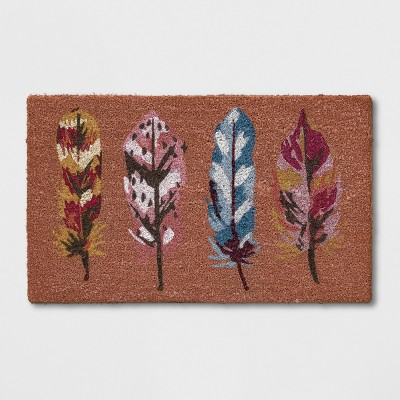 1'6 X2'6  Leaf Tufted Doormats Orange - Opalhouse™