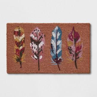 "16""X26"" Leaf Tufted Doormats Orange - Opalhouse™"