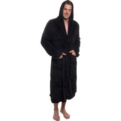 Ross Michaels Men's Plush Luxury Hooded Bathrobe