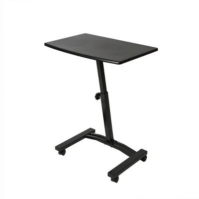 Airlift Mobile Adjustable Height Solid Top Laptop Desk Cart Black - Seville Classics