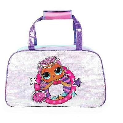 "Fashion Accessory Bazaar LLC LOL Surprise 10"" x 17"" Sequin Duffle Bag"