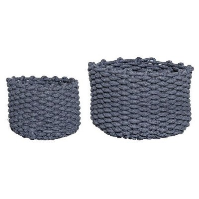 Decorative Baskets - Gray Set of 2 - 3R Studios