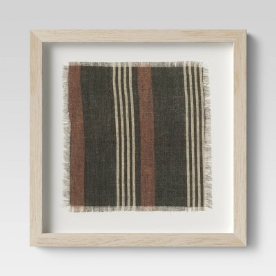 12 x12  Framed Fabric Under Glass - Threshold™