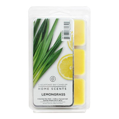 6pk Wax Melts Lemongrass - Home Scents by Chesapeake Bay Candle