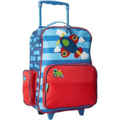 Stephen Joseph Fun Kids Themed Classic Rolling Luggage Polyester Carry On Suitcase with Multiple Pockets and Extendable Handle, Airplane