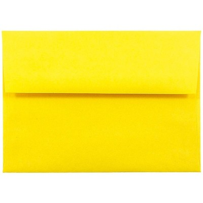 JAM Paper A6 Colored Invitation Envelopes 4.75 x 6.5 Yellow Recycled 94531