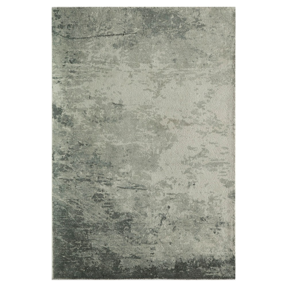 Green Shapes Tufted and Hooked Area Rug 7'6