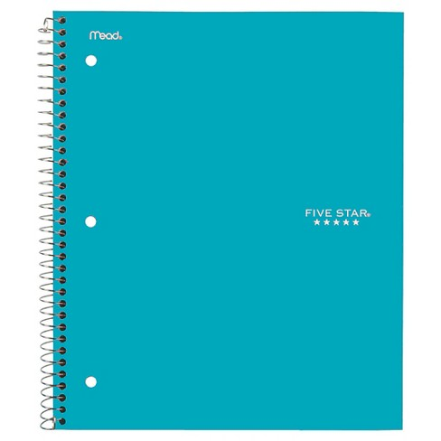 Five Star Spiral Notebook 1 Subject College Ruled - Teal - image 1 of 1