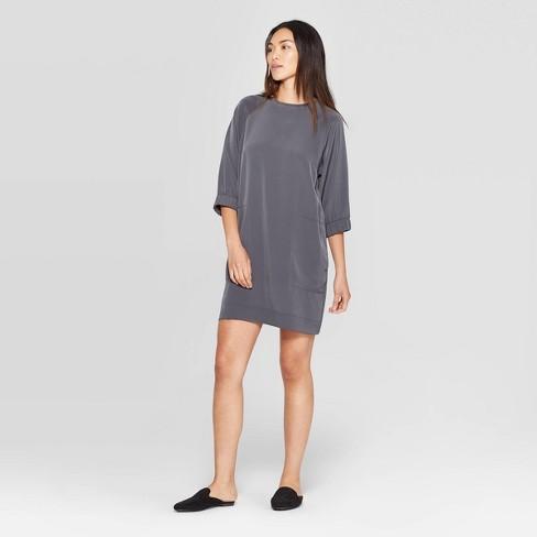 Women's 3/4 Sleeve Crewneck East Coast Mini Dress - Prologue™ Gray - image 1 of 3
