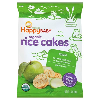 Baby & Toddler Snacks: Happy Baby Rice Cakes