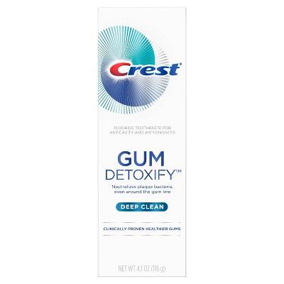 Toothpaste: Crest Gum Detoxify