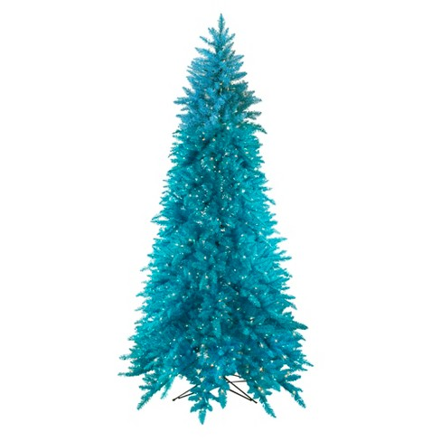 Vickerman 9\' Prelit Slim Artificial Christmas Tree Ashley Spruce -  Clear/Blue Lights