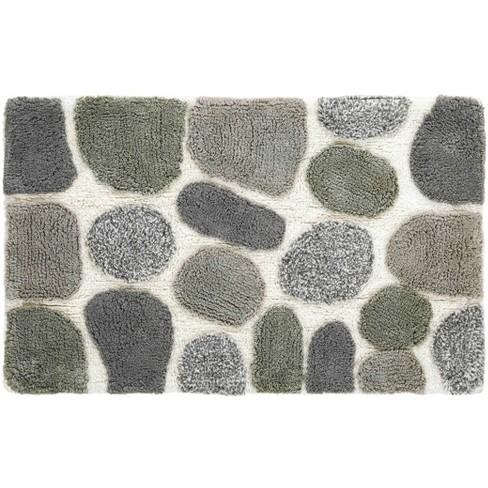 2pc Pebbles Bath Rug Set Gray