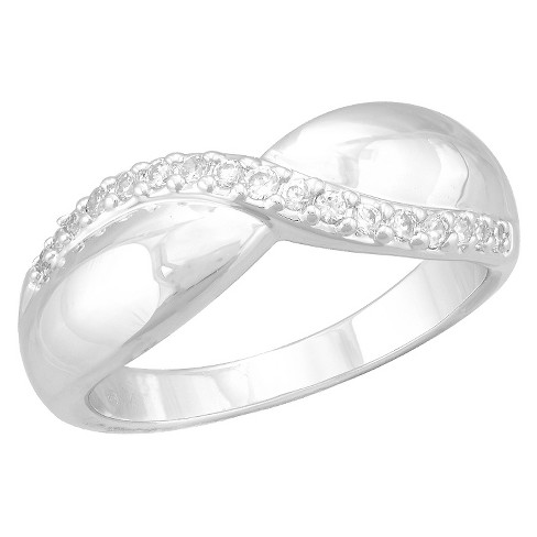 Women's Silver Plated Cubic Zirconia Ring (8) - image 1 of 1