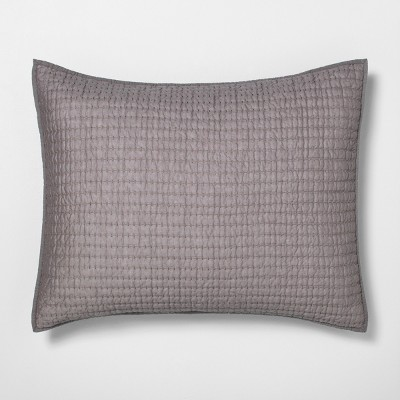 King Pillow Sham Quilted Solid Radiant Gray - Hearth & Hand™ with Magnolia