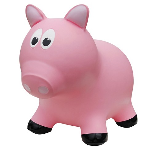 Farm Hoppers Inflatable Bouncing Pink Pig - image 1 of 3