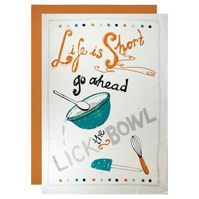 Lick The Bowl Flour Sack Dish Towel Set Orange (24 X36 )- Mu Kitchen