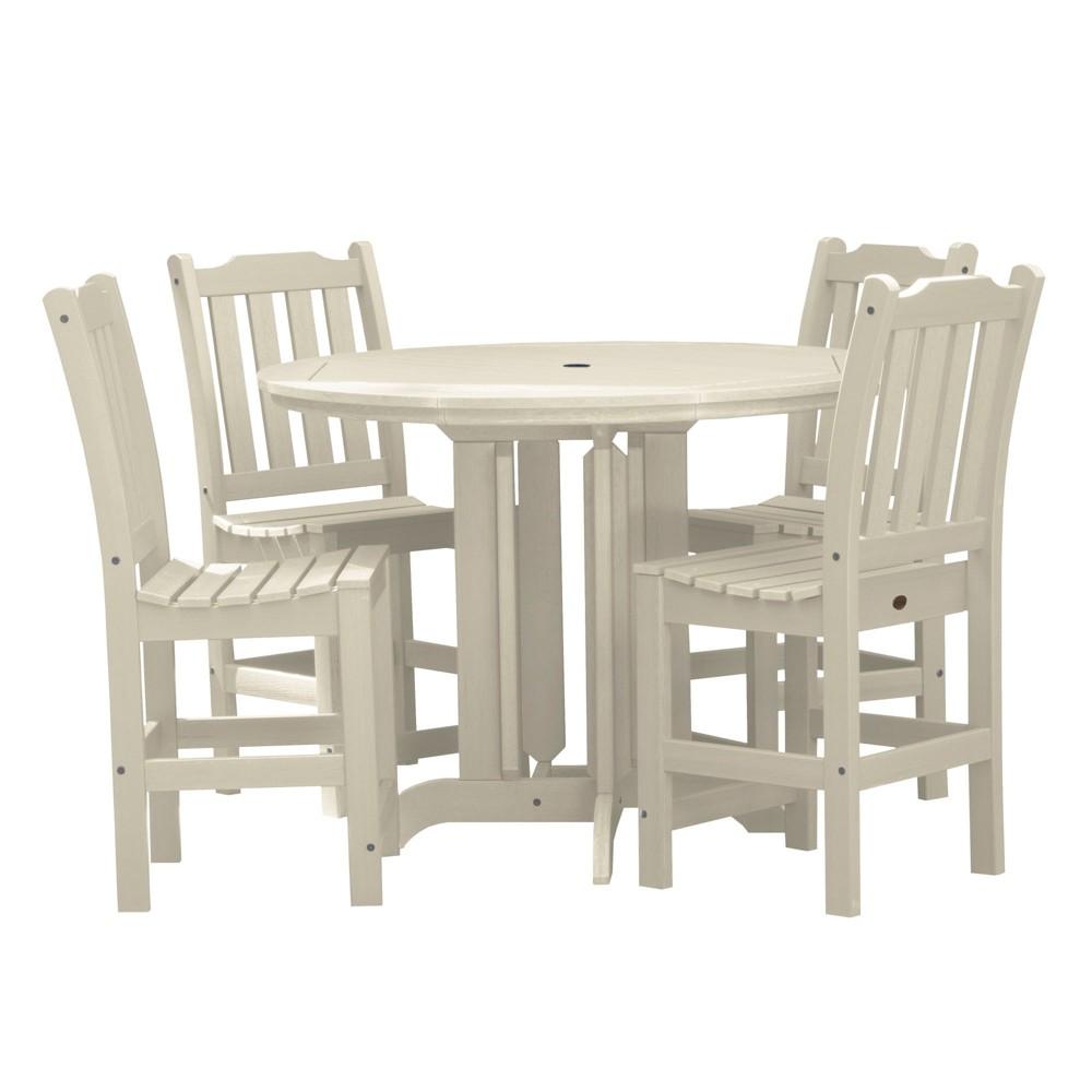 Lehigh 5pc Round Counter Dining Set Whitewash - Highwood, Off White
