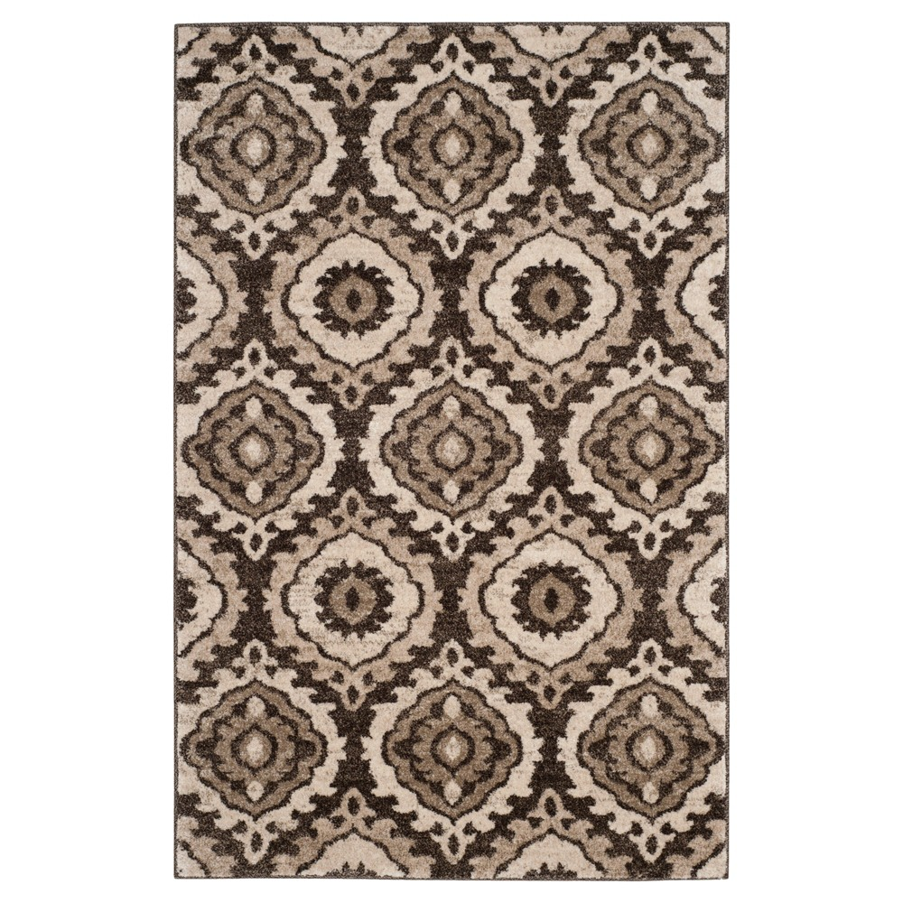 Brown/Creme Abstract Loomed Accent Rug - (3'X5') - Safavieh