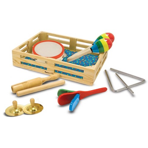 Melissa & Doug Band-in-a-Box Clap! Clang! Tap! - 10-Piece Musical Instrument Set - image 1 of 4