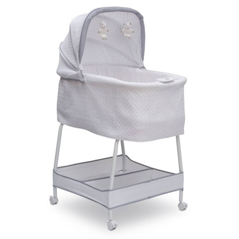 Simmons Kids' Elite Hands-Free Auto-Glide Bedside Bassinet Portable Crib Features Silent Smooth Gliding Motion That Soothes Baby - Basketweave - image 1 of 4