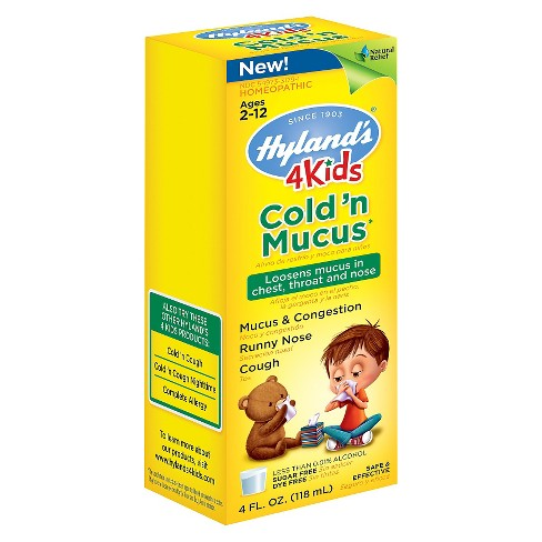 Hyland's 4 Kids Cold 'n Mucus Relief Liquid - 4 fl oz - image 1 of 1