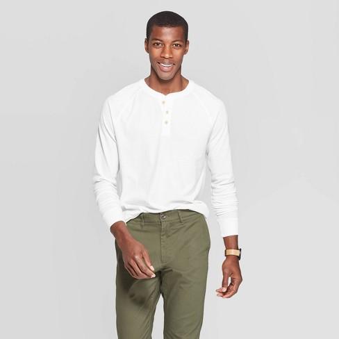 Men's Regular Fit Long Sleeve Jersey Henley Shirt - Goodfellow & Co™ - image 1 of 3