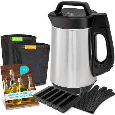 Ivation Herbal Infusion Machine, Botanical Extractor Infuser for making Butters, Oils & Tinctures, Chocolate & Gummies